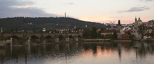 The Vlata River in Prague, Czech Republic.  (2003)