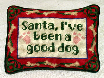 The lovely Marie has sent us many lovely embroidered pillows and things over the years.  Here is a seasonal favorite.