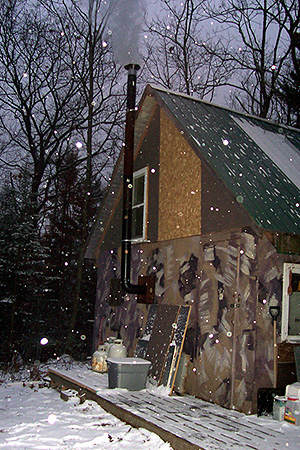 My dad's hunting camp somewhere out on the front 40 (or is it the back 40, Dad?), way up in upper peninsula land in the great state of Michigan.  (2006)