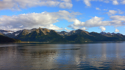 View from the shore near the Sea Life Center in Seward.  (2007)