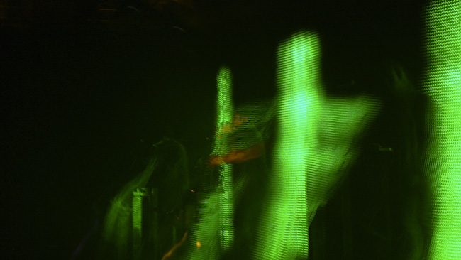 Nice open shutter effect at the Nine Inch Nails concert in Jacksonville.  (2008)