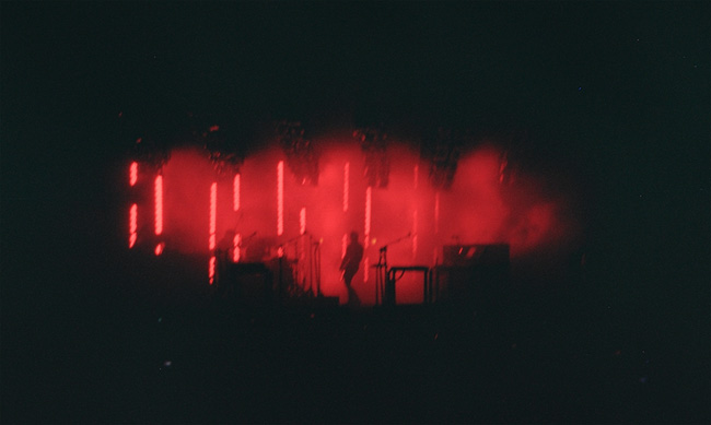 The red photo on my roll of Holga film from the Nine Inch Nails concert in Tampa on May 9th, 2009. (2009)