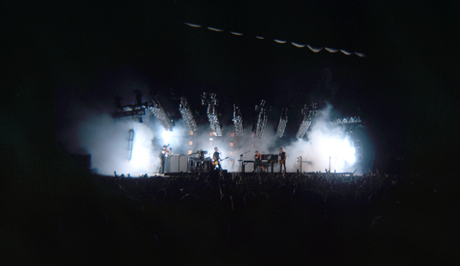 Probably the best image on my roll of Holga film from the Nine Inch Nails concert in Tampa on May 9th, 2009. (2009)